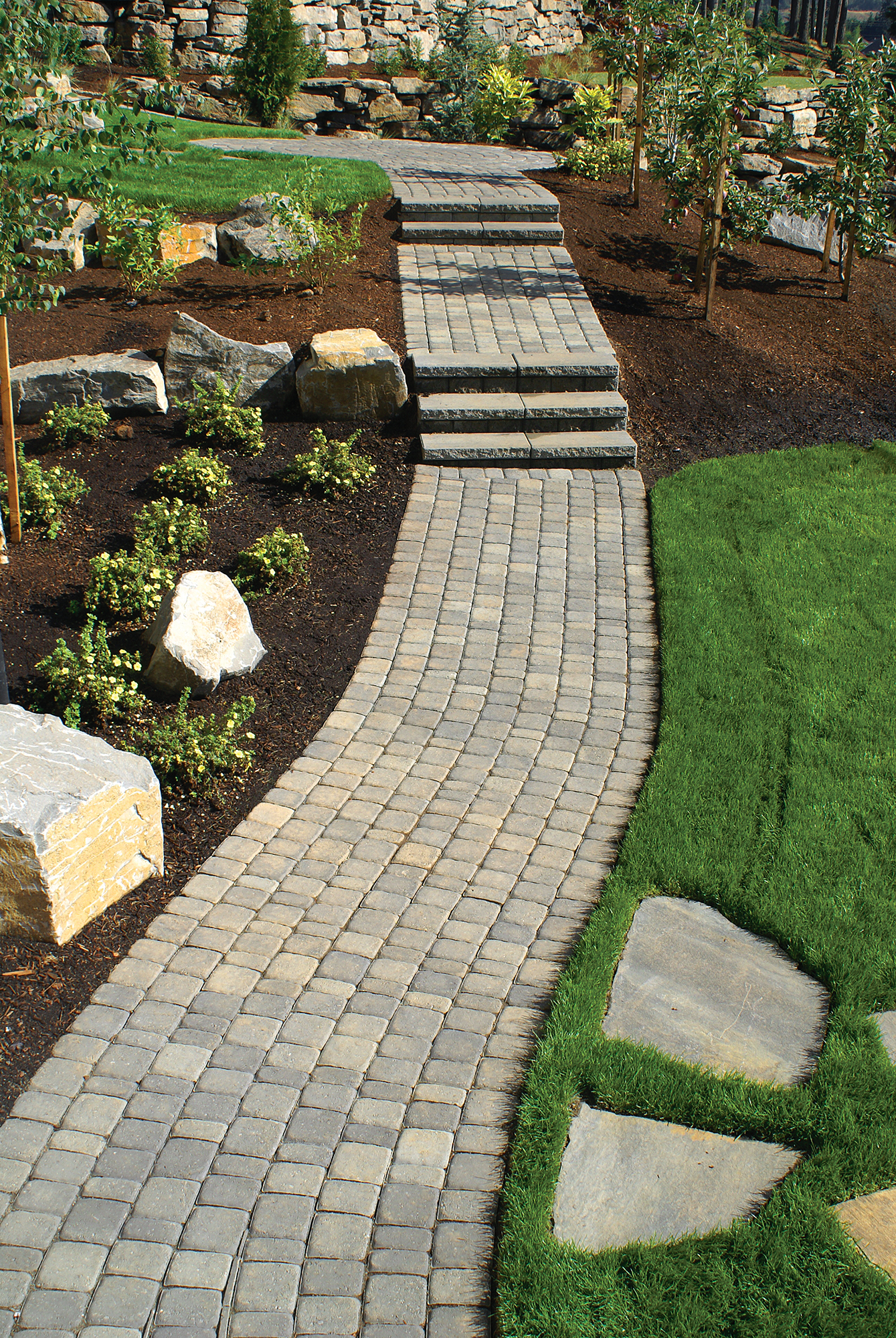 Side Of Driveway Landscaping Retaining Walls